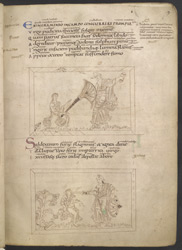 Drawings Of Chastity Disarming And Beheading Lust, In Prudentius's 'Conflict Of The Soul'